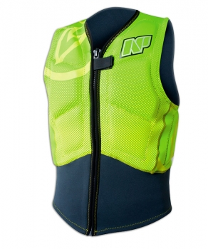 Vesta Impact Vest Front Zip Green/Yellow