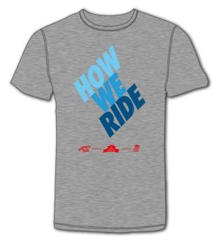 Triko How We Ride Short.sl. grey