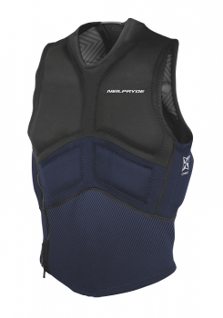 Vesta Combat Impact Vest Side Zip Black/Navy